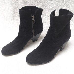 Sam Edelman Louie Black Suede Ankle Boots Size 9M